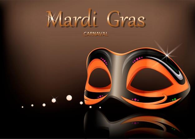 Карнавальная маска mardi gras