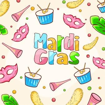 Mardi grass background