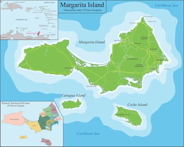 Карта острова маргарита