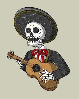 Mariachi skull mexican