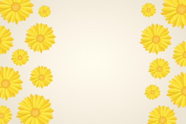 マリーゴールドの花のつぼみの背景