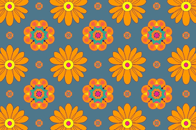 Marigold flower pattern diwali festival background
