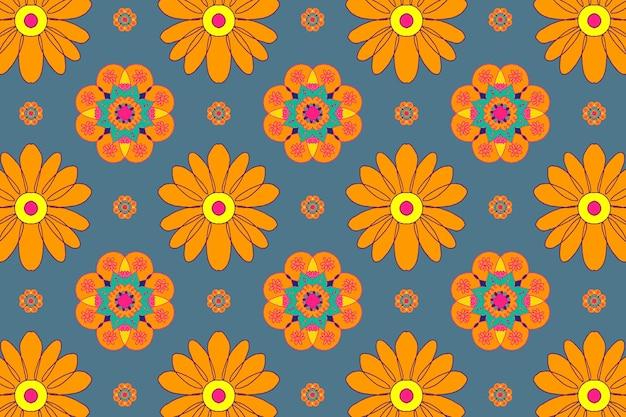 메리 골드 꽃 패턴 디 왈리 축제 배경