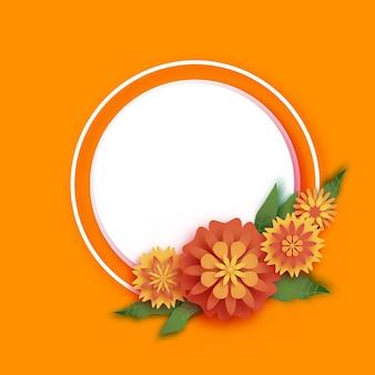 マリーゴールドグリーンリーフgarlandflowerindian happy diwali dasara dussehra ugadivector