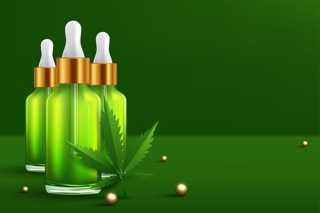 マリファナと大麻のオイルボトル