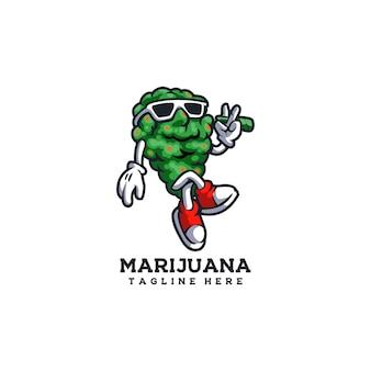 마리화나 대마초 잎 녹색 약 연기 허브