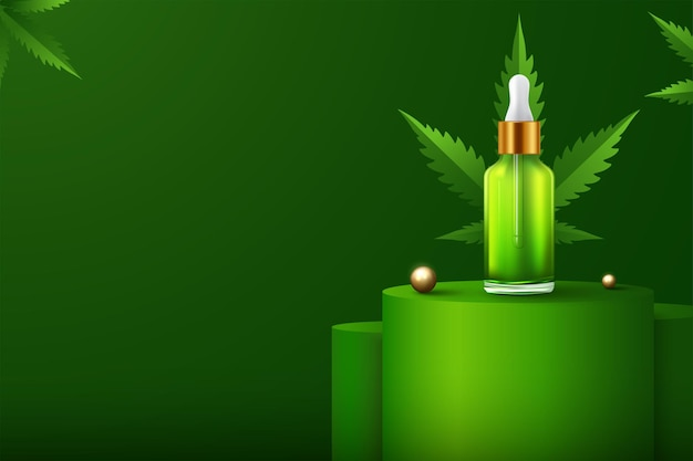 Marijuana and cannabis oil bottles