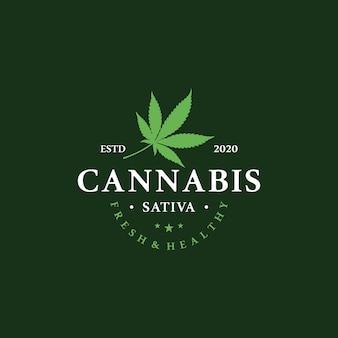 マリファナ健康医療大麻のロゴ