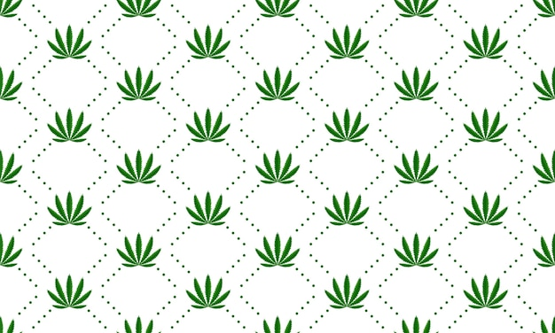 Marijuana leaves seamless vector pattern