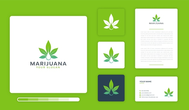 Marijuana logo design template