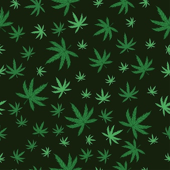 Marijuana seamless pattern.