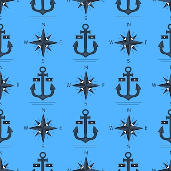Marine anchor pattern