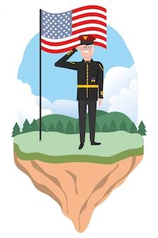 Marine force man
