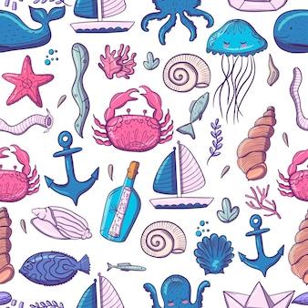 Образец морских обитателей