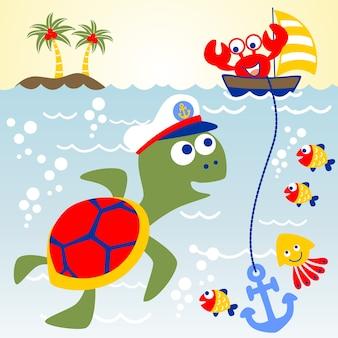 Marine life cartoon