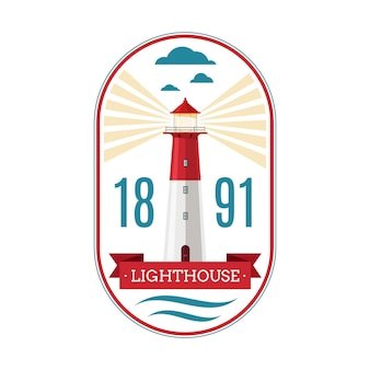 Marine lighthouse badge