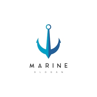 Marine logo, anchor symbol design inspiration