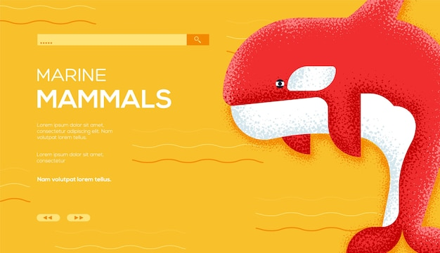 海洋哺乳類のランディングページ