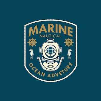 Marine nautical badge logo