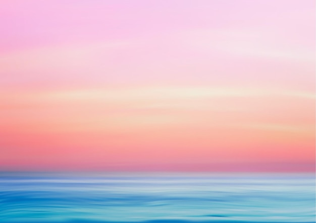 해양 파노라마 풍경