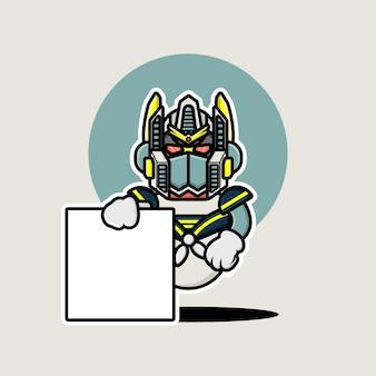 マリンロボットのキャラクターデザイン