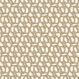 海洋ロープベクトルシームレスパターン