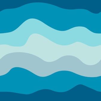 해양 원활한 패턴 원활한 물결 모양 질감 주식 벡터 일러스트 레이 션