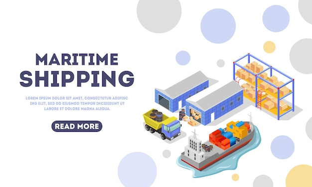 Maritime delivery landing page template.