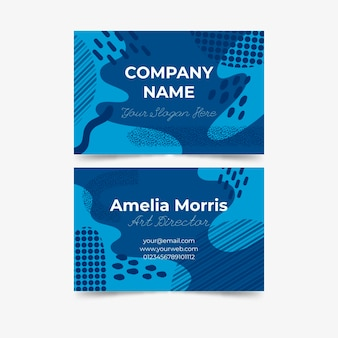 Marker dots and lines business card