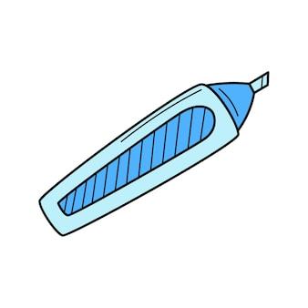 마커, 펠트 펜, 형광펜. 학교, 아티스트 아이템. 낙서. 손으로 그린 다채로운 그림입니다.
