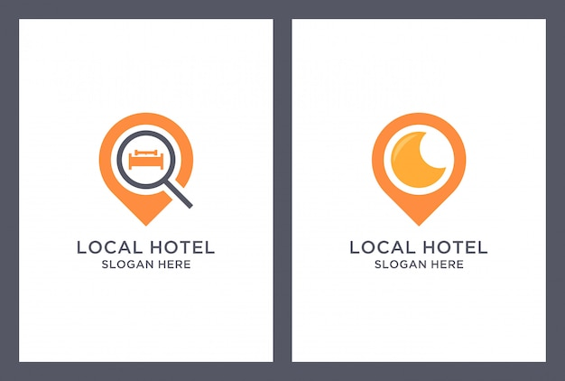 Marker hotel logo design