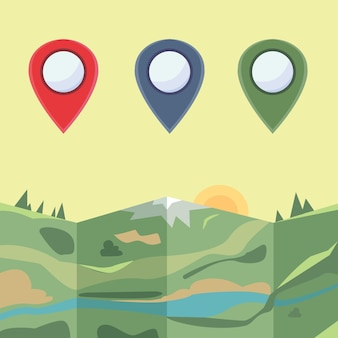 Markers to map.  colored icons
