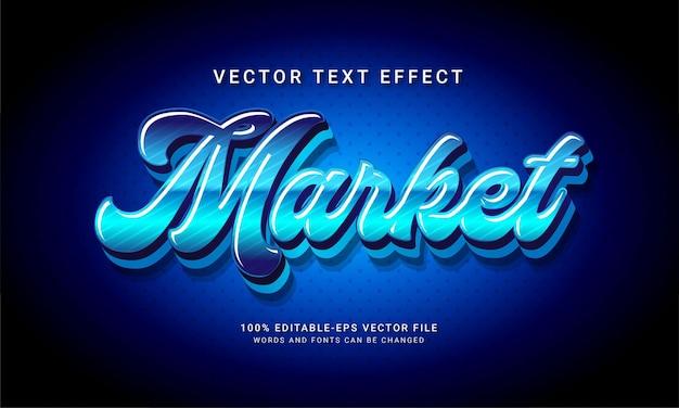 Market 3d editable text style effect