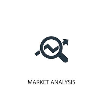 市場分析アイコン。シンプルな要素のイラスト。市場分析コンセプトシンボルデザイン。 webおよびモバイルに使用できます。