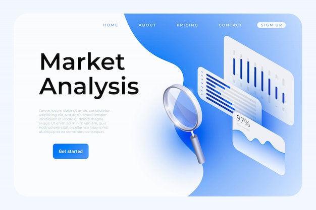 Market analysis  web template