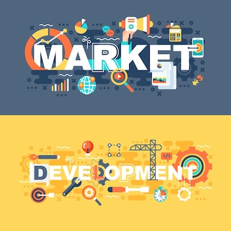 Рынок и разработка набора плоской концепции