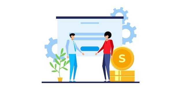 시장 예측. 트렌드 분석, 비즈니스 마케팅 전략 및 시장 예측. 뱅킹 디지털 거래, 블록체인 금융 분석 다이어그램. 평면 벡터 고립 된 그림 아이콘
