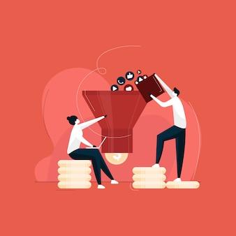 Оптимизация рынка с концепцией воронки