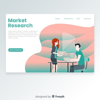 Market research landing page