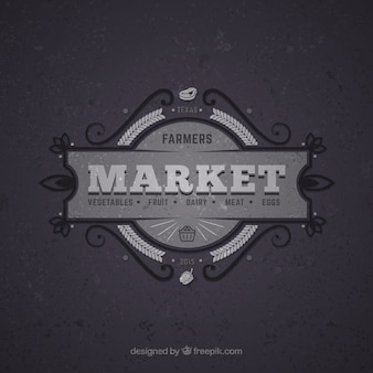 Market retro badge