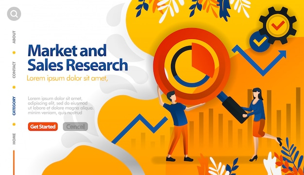 Market and sales research, target marketing and sales
