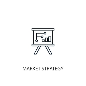 Market strategy concept line icon. simple element illustration. market strategy concept outline symbol design. can be used for web and mobile ui/ux
