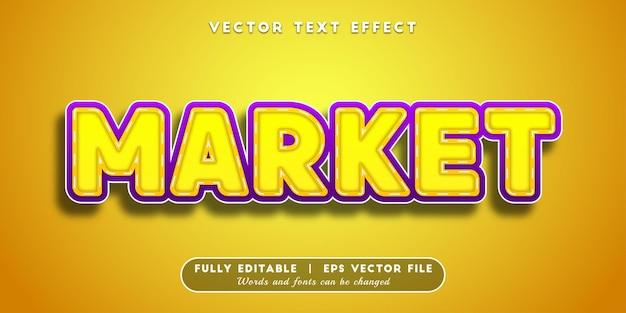Market text effect, editable text style