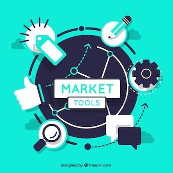 Market tools Free Vector