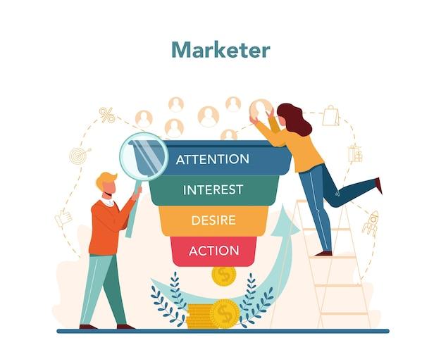 マーケター広告とマーケティングの概念