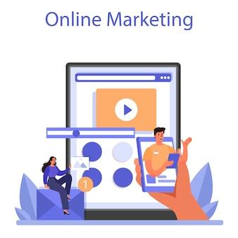 Marketer online service or platform