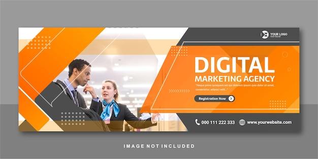 Marketing agency facebook banner premium design