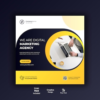 Маркетинговое агентство instagram пост дизайн или дизайн социальных сетей