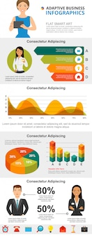 Marketing and analysis concept infographic charts set