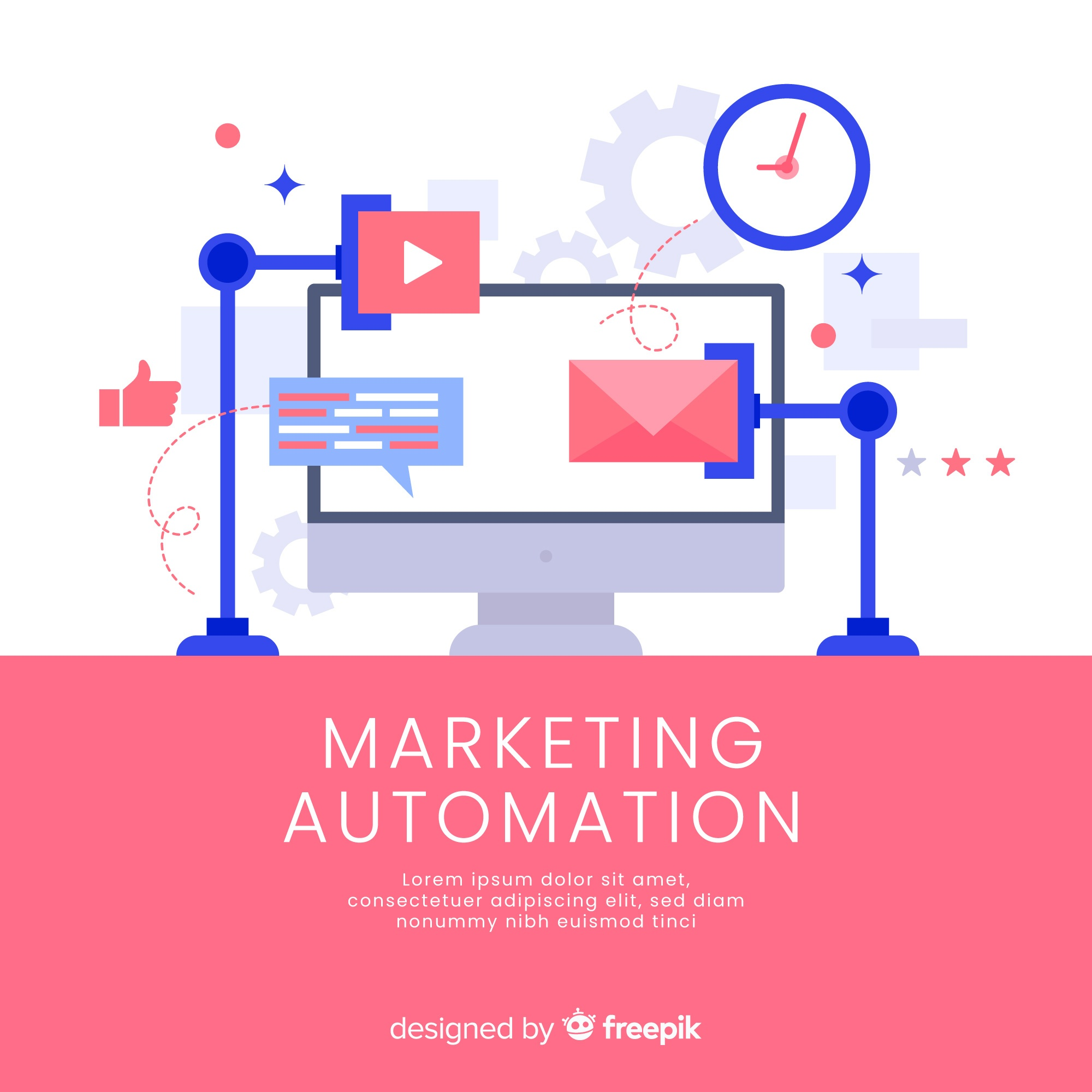 Marketing automation background template